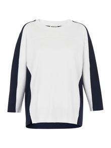 Whistles Colourblock Relaxed Sweatshirt