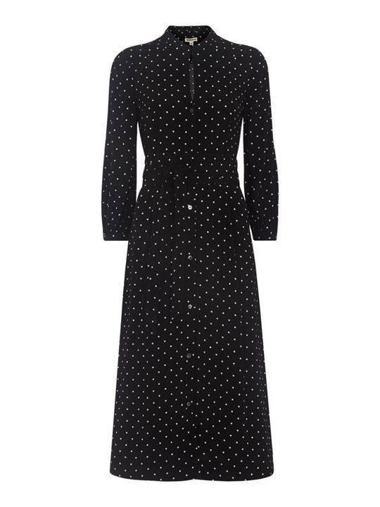 Whistles Kamala Belted Spot Shirt Dress