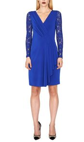 James Lakeland Lace Sleeve Pleated Dress