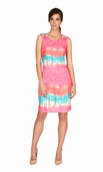 James Lakeland Slvless Print Fitted Dress