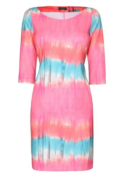 James Lakeland 3/4 Sleeve Print Fitted Dress