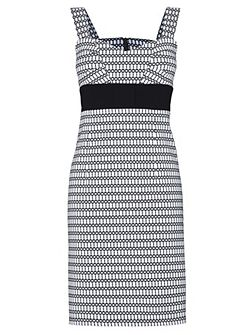 Monochrome sleeveless dress