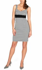 James Lakeland Monochrome sleeveless dress