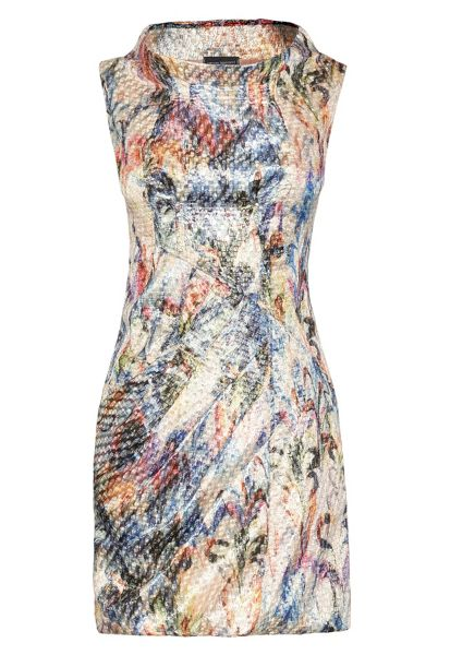 James Lakeland Print Cowl Neck Dress