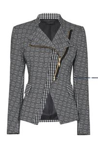 Pattern Front Zip Jacket