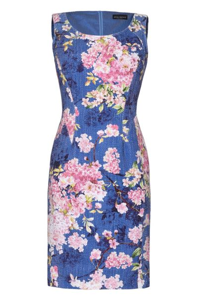 James Lakeland Sleeveless Floral Print Dress