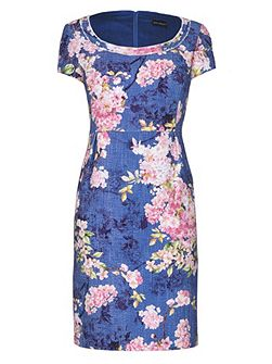 James Lakeland Short Sleeve Floral Print Dress