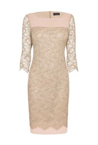 James Lakeland Square Neck Lace Dress