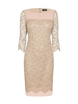 Square Neck Lace Dress