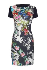 James Lakeland Floral Silhouette Print Dress