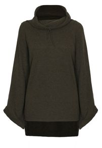 James Lakeland Wide cuff cowl neck jumper