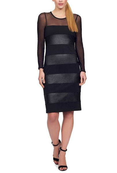 James Lakeland Faux Leather Insert Dress