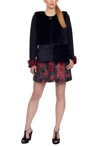 Bicolour Faux Fur Coat