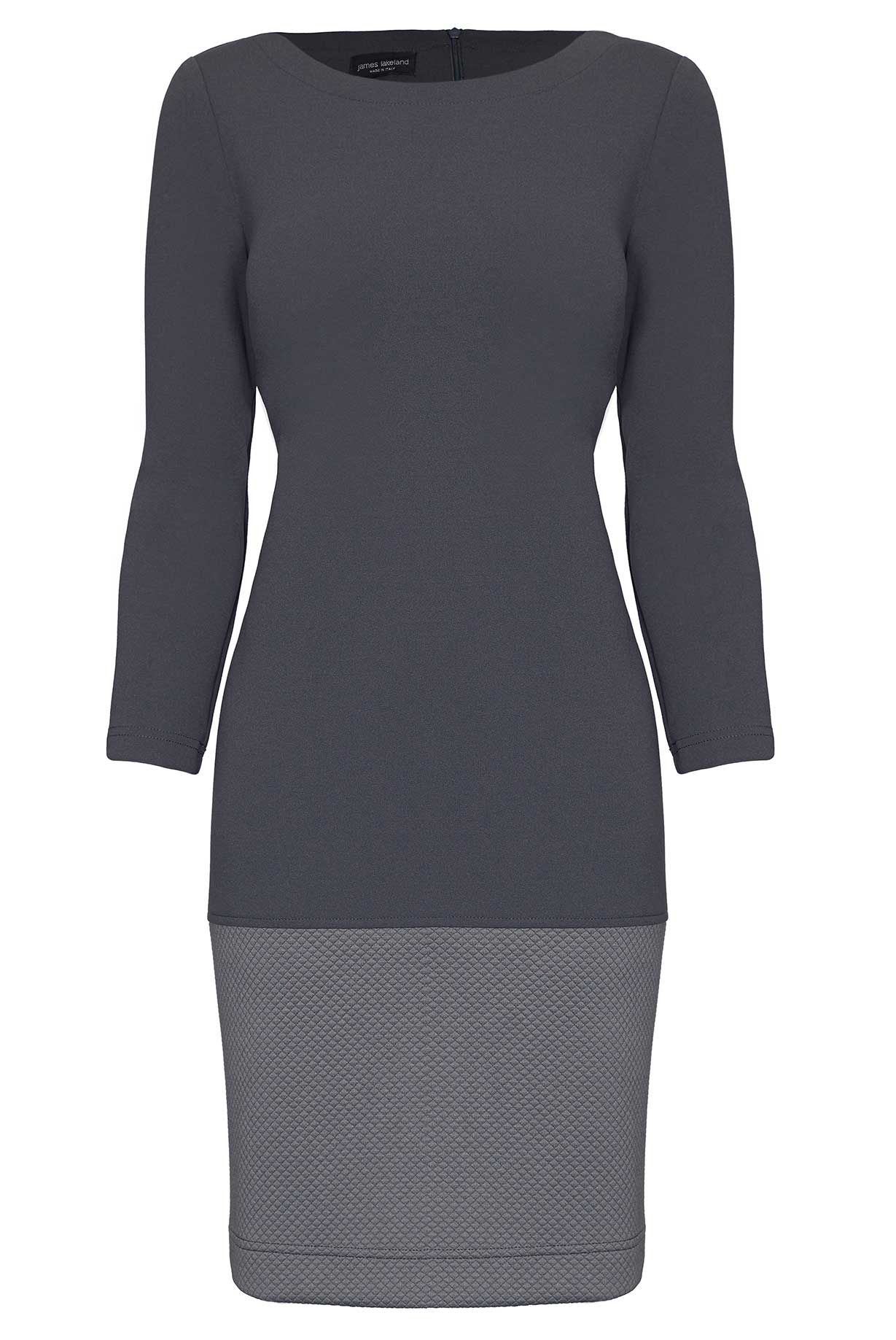 James Lakeland Textured Panel Dress, Charcoal