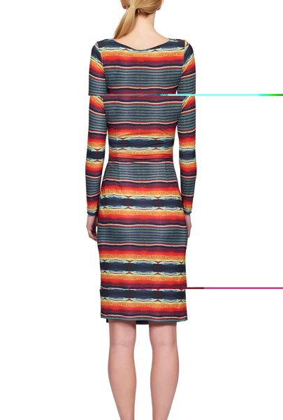 James Lakeland Stripe Print Cross Dress