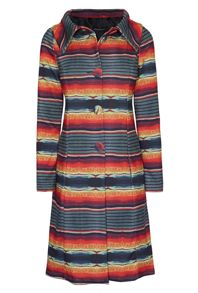 James Lakeland Stripe Print Coat