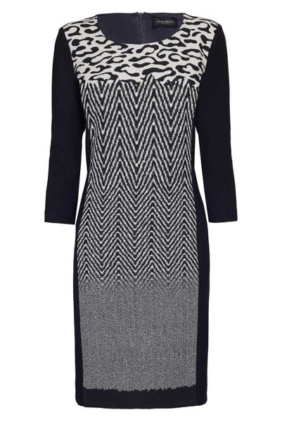 James Lakeland Jacquard Pattern Dress