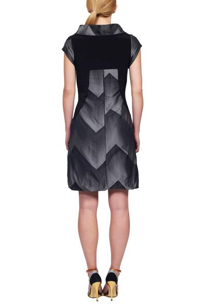 James Lakeland Geometric Taffeta Dress