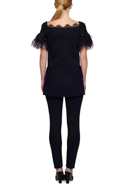 James Lakeland Lace and Feather Top