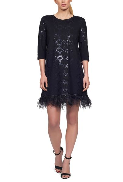 James Lakeland Feather Hem Dress