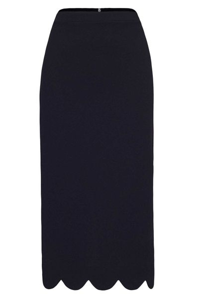 James Lakeland Long Scalloped Hem Skirt