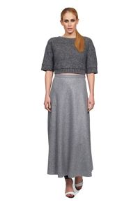 James Lakeland Long Wool High Waist Skirt
