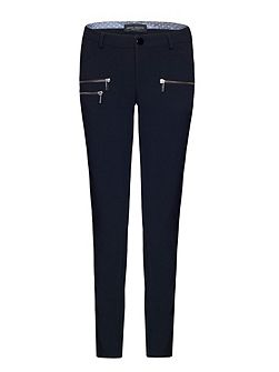 Slim Leg Zip Trousers