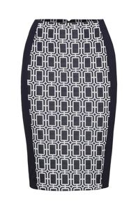 James Lakeland Jacquard Straight Skirt