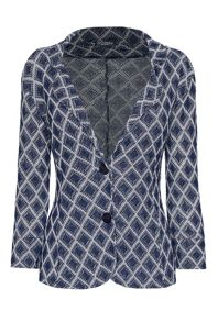 James Lakeland Diamond Knit 3/4 Sleeve Jacket