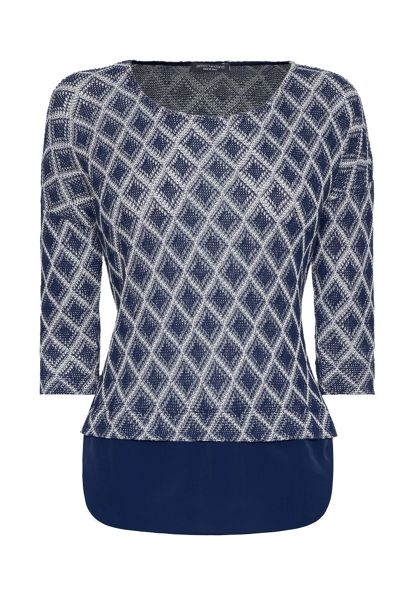 James Lakeland Diamond Knit Shirt Jumper