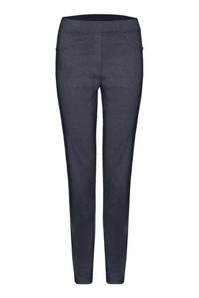James Lakeland Printed Stretch Slim Leg Trousers