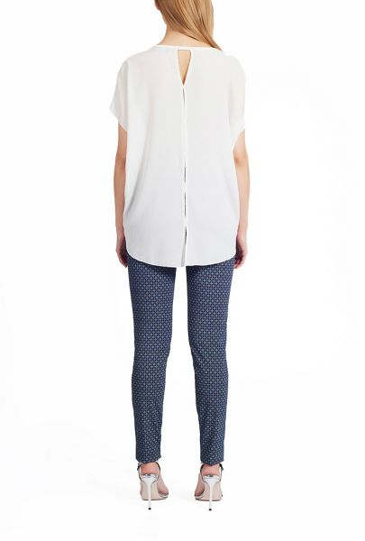 James Lakeland Crepe Top With Split Back