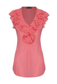 James Lakeland Sleeveless Ruffle Blouse