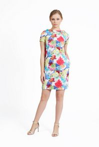James Lakeland Short Sleeve High Neck Printed Dress