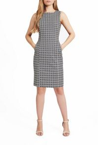 James Lakeland Sleeveless Geometric Print Dress
