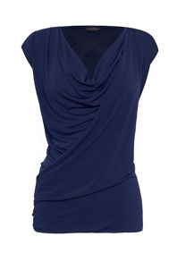 James Lakeland Plain Drape Top