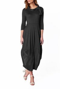 James Lakeland Taffeta Puff Hem Long Dress