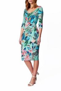 James Lakeland Printed Side Ruched Dress