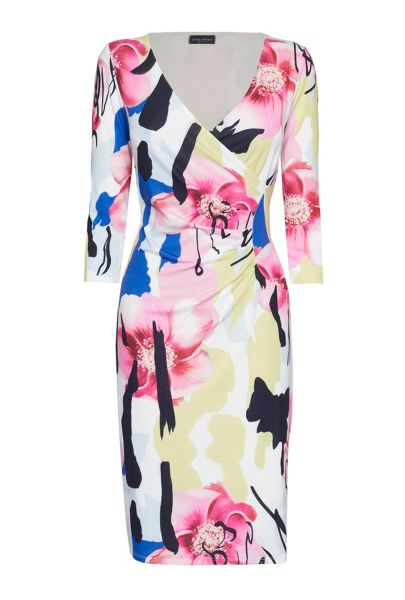 James Lakeland Abstract Floral Print 1/2 Moon Dress