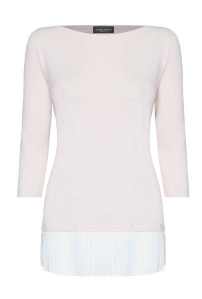 James Lakeland Pleated Knit Shirt Jumper