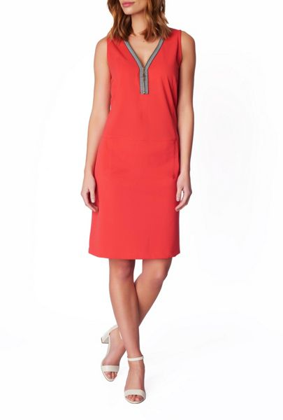 James Lakeland V-Neck Zip Dress