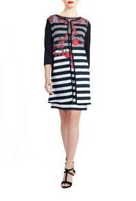 James Lakeland Stripe And Flower Print Jacket