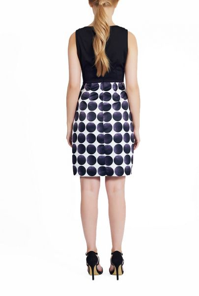 James Lakeland Laser Cut And Spotted Sleeveless Dress