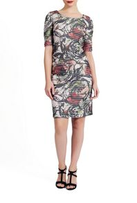 James Lakeland Floral Stripe Print Dress