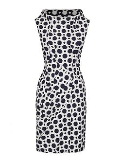 Polka Dot Cowl Neck Dress