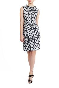 James Lakeland Polka Dot Cowl Neck Dress