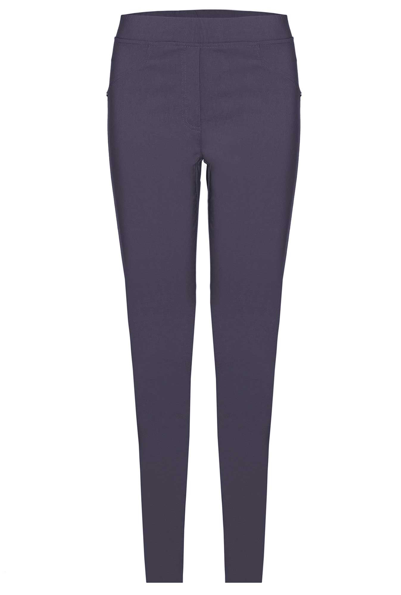 James Lakeland Plain Stretch Trousers, Grey