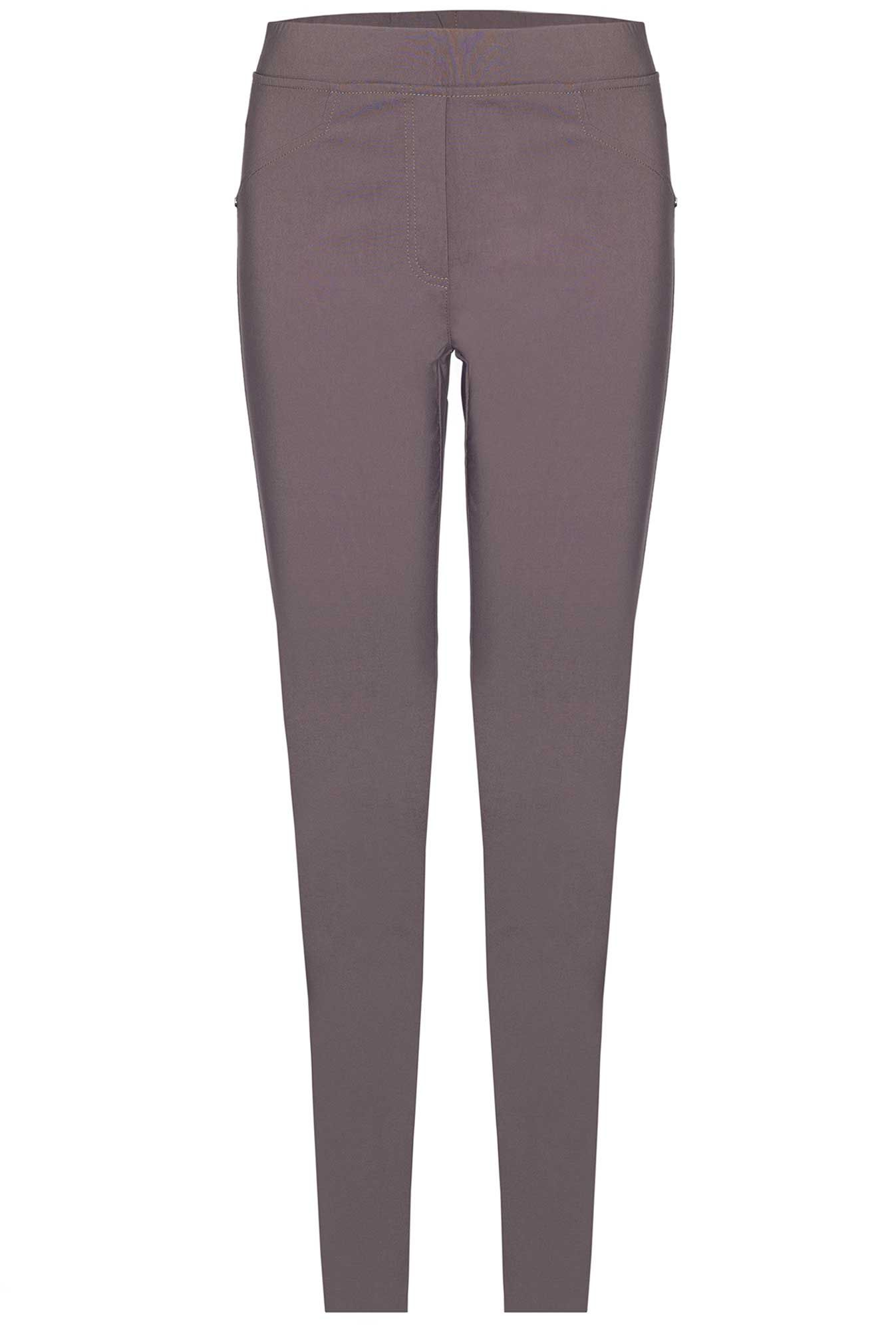 James Lakeland Plain Stretch Trousers, Mink
