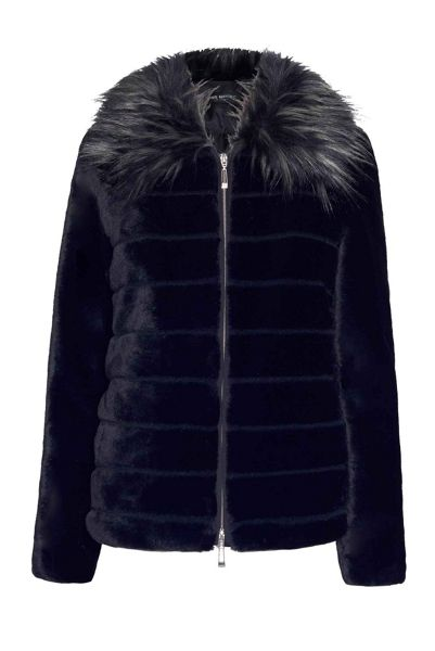 James Lakeland Long Sleeved Faux Fur Coat