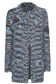 James Lakeland Boucle Detail Long Line Jacket